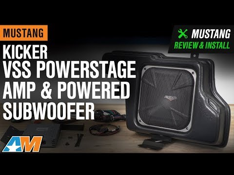 2010-2014 Mustang Coupe Kicker VSS Powerstage Amp & Powered Subwoofer Review & Install