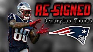 Patriots Re-Sign WR Demaryius Thomas