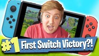 Nintendo Switch Gameplay! - Fortnite Battle Royale