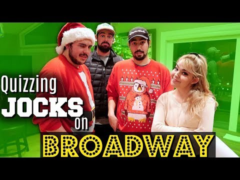 Quizzing JOCKS on MUSICAL THEATRE + BROADWAY! | Challenge