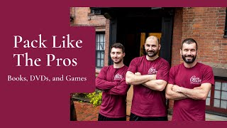 Pack Like The Pros™: Books, DVDs, and Games  Gentle Giant Moving Company