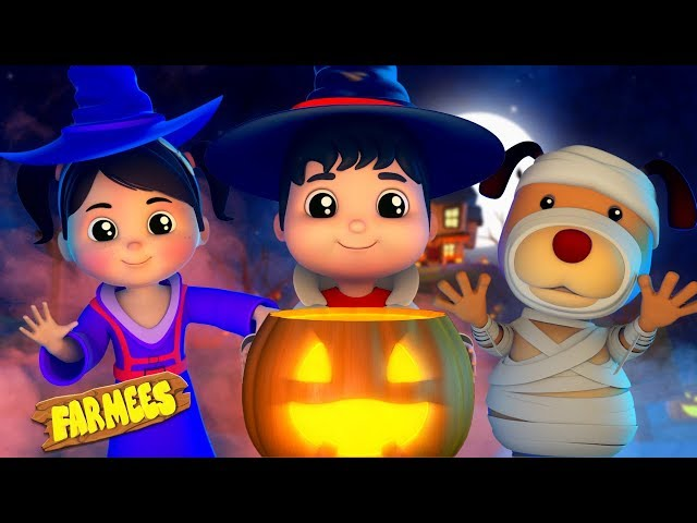 Halloween Night | Videos For Kids | Scary Nursery Rhymes | Farmees