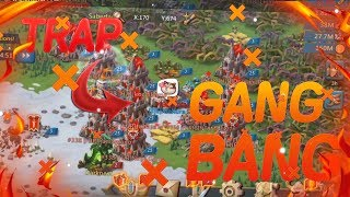 My Trap got GANG BANGED?!? Will I BURN??/ Lords Mobile KvK November