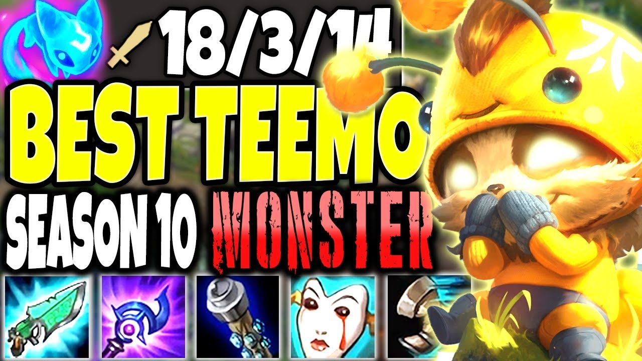Teemo Is A Season 10 Monster Best Teemo Season 10 Build To Carry Lol Top Teemo S10 Gameplay Youtube