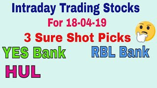 Intraday Trading Stock tips for tomorrow # Strong level in hindi with Strategy || 18-04-2019 ||TT