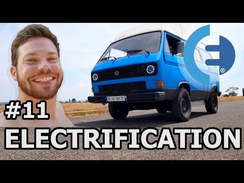 DRIVING our TESLA powered VW T3 Electric van (#EVWT 32)