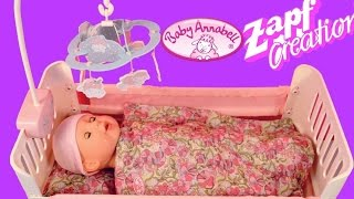 Baby Annabell Bed with Lullaby - Zapf Creation Baby Doll and Doll bed