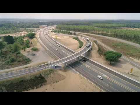 A63 Chantier d'élargissement_Timelaspe Pont poussé