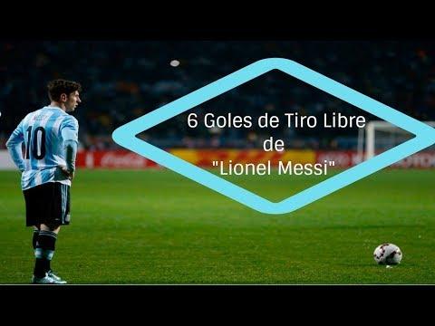 """6 Goles De Tiro Libre de """"LIONEL MESSI"""" en su Seleccion"""