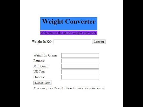 CS101 Assignment No 2 Fall 2017 Weight Converter Calculator   100% Complete Solution  