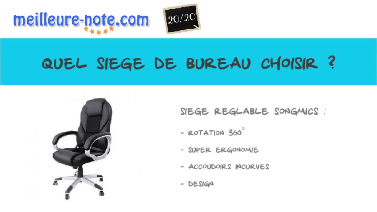 quel fauteuil de bureau choisir sur internet meilleure note youtube. Black Bedroom Furniture Sets. Home Design Ideas