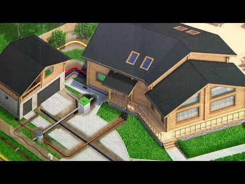 Проект дома Прато (узкий участок, западный фасад, одноэтажный дом 100 квм).