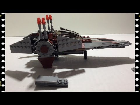 Self-Assembly of Star Wars V-Wing Starfighter (Stop motion animation)