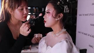 Buổi Học Training Make Up Chuyên Nghiệp Tại Hằng Thu Make Up Academy