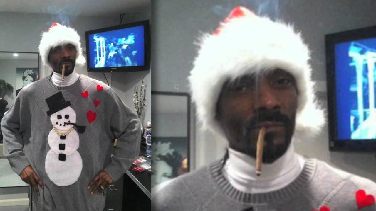 Celebrities Wear Ugly Christmas Sweaters Youtube