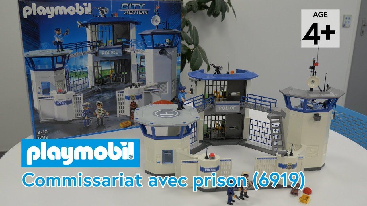 playmobil 6919 commissariat de police avec prison d mo en fran ais hd fr youtube. Black Bedroom Furniture Sets. Home Design Ideas