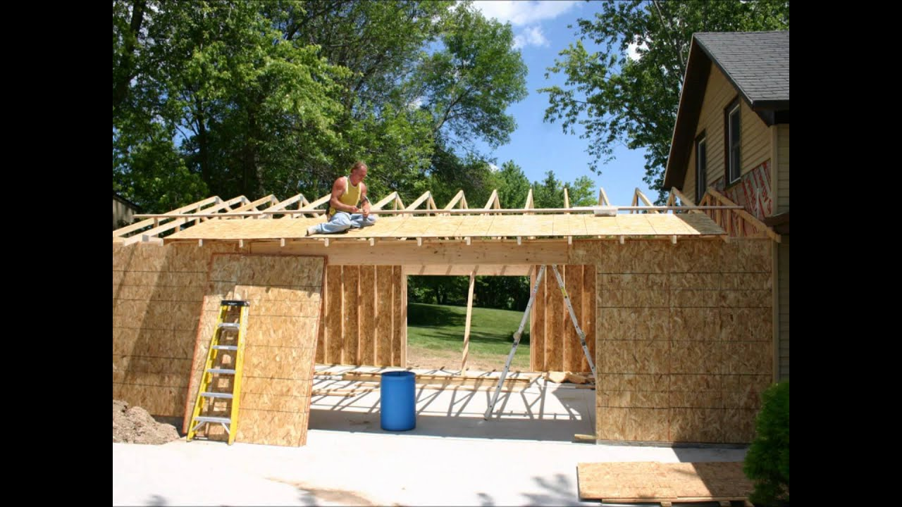 Attached garage build youtube for A frame house plans with garage