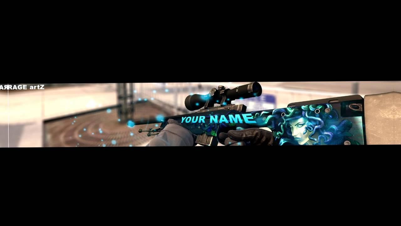 CS:GO Banner Template #1 - YouTube