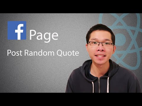 Post Random Quote To Facebook Page With A Button   React Tutorial - Graph API