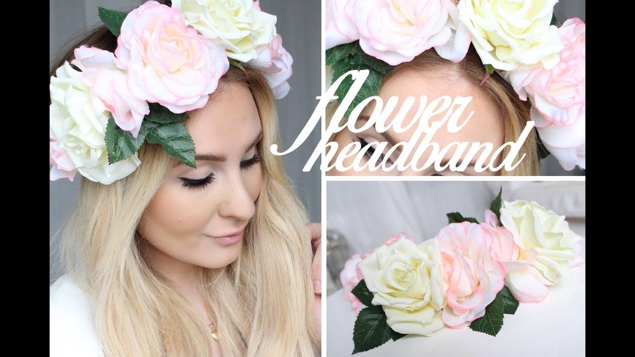 Diy flower headband tutorial youtube diy flower headband tutorial izmirmasajfo