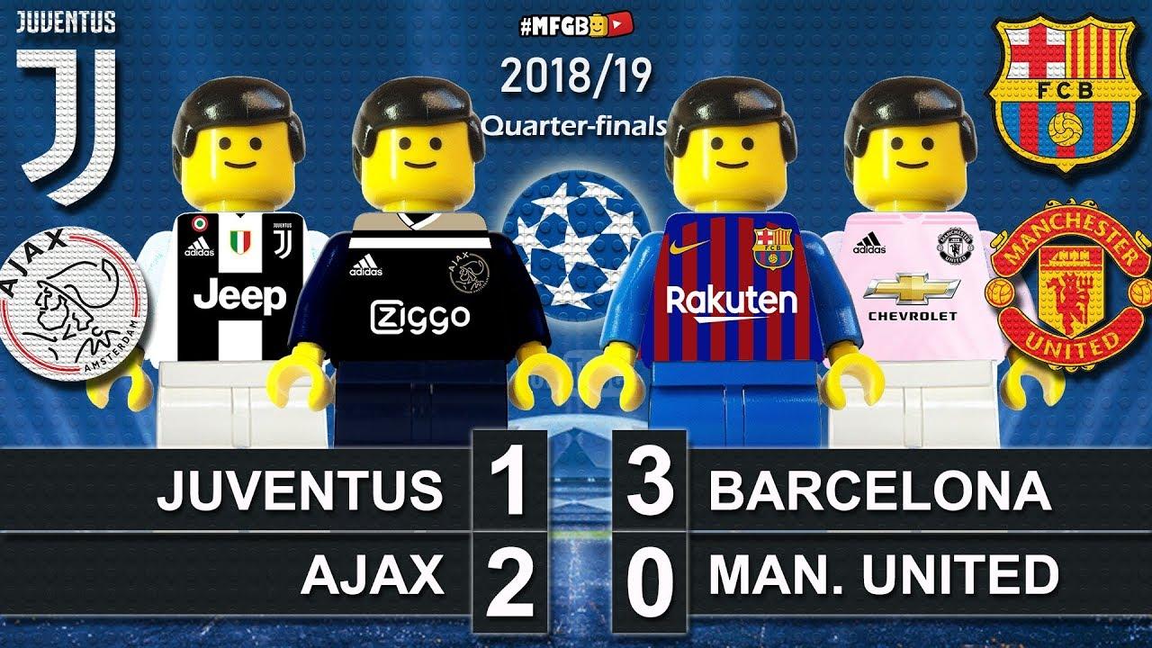 Juventus vs Ajax 1-2 • Barcelona vs Man. United 3-0 ...