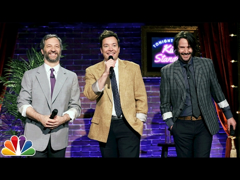 Keanu Reeves and Judd Apatow did standup with jokes written by kids