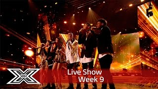 The Contestants open the show with Do They Know It's Christmas | Results Show | The X Factor UK 2016