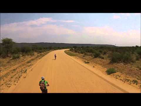 Cycling to Waterberg Plateau National Park, Namibia