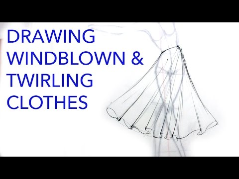 Drawing Clothes 5: Moving Drapes