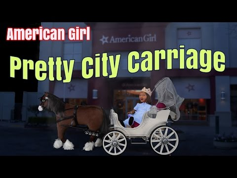 Super Big Boxes From American Girl ~ Pretty City Carriage And Prancing Horse