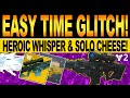 Gambar cover Destiny 2   EASY TIME GLITCH! New THE WHISPER SOLO Cheese, How To Get WHISPER OF THE WORM Catalyst!