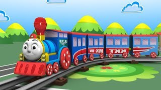 Cartoon Train - Train videos - jcb - Cars for Kids - Toys Factory - Kids Railway - Police Cartoon thumbnail