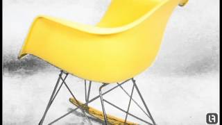 Rar Yellow Eames Style Rocking Chair