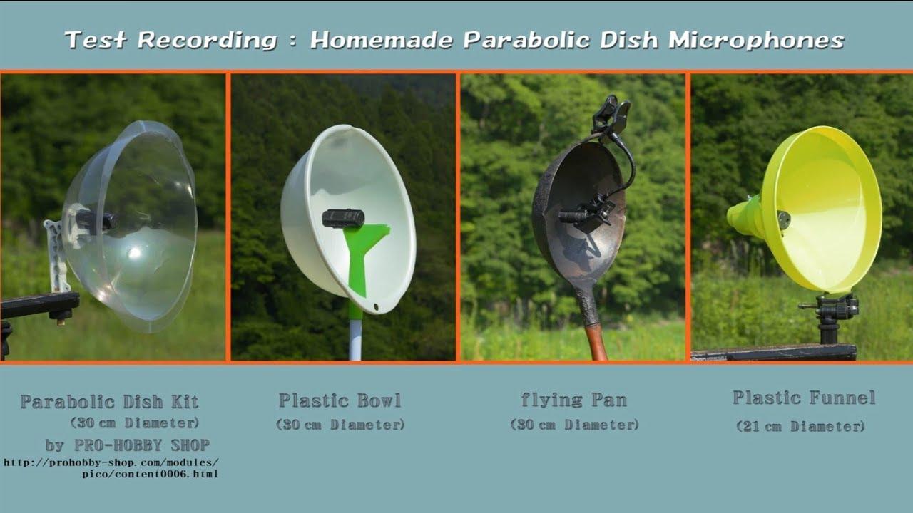 DIY Parabolic Microphones - ¥100ショップでパラボラマイクを作ろう! - YouTube