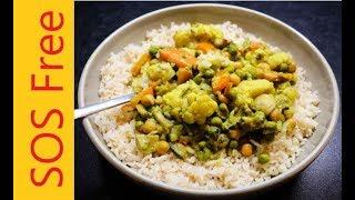 Gobi Matar Masala | Vegan Curry | WFPB | SOS-Free| No Oil/Salt/Sugar!