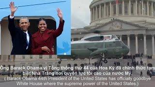 Khoảnh khắc cảm động cuối cùng khi rời Nhà Trắng của Tổng thống Barack Obama.
