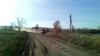 Пьяные украинские военные врезались на БМП-2 в опору ЛЭП: