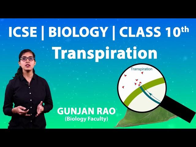 ICSE | Class 10th | Biology | Transpiration | Important Ques | Colour of Dry Cobalt Chloride Paper