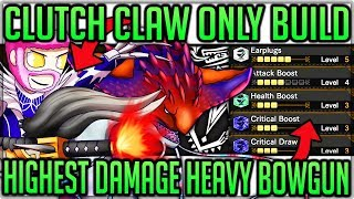 Clutch Claw Only Best Build - 800+ Damage Per Clutch - Monster Hunter World Iceborne! #iceborne