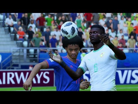 World Cup 2018 - Senegal vs Colombia - Group H Full Match Sim (World Cup FIFA 18)