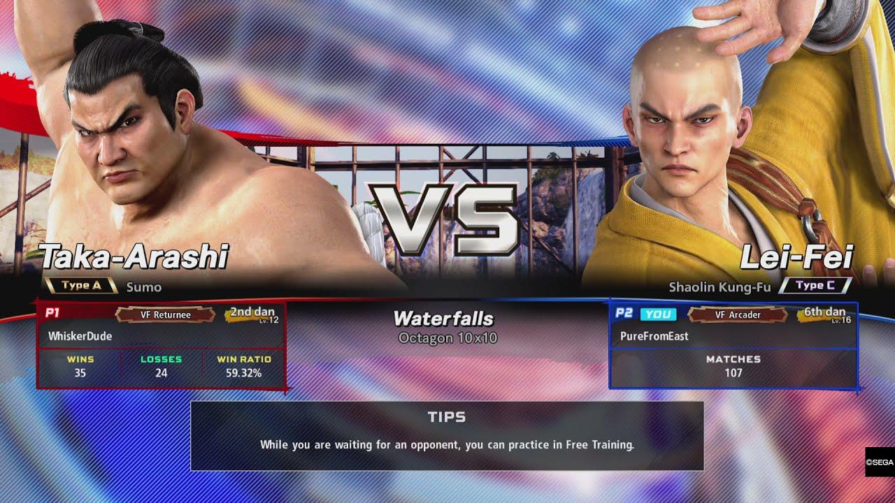 Lei-Fei 6th Dan - Virtua Fighter 5 Ultimate Showdown Ranked Online