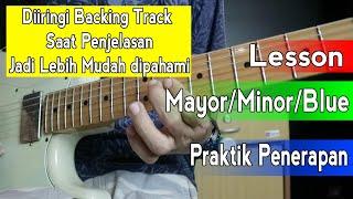Belajar Langsung Menerapkan Scale Gitar Pentatonic Mayor & Mix Dengan Minor dan Blues Melalui Lagu