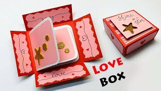 Love Box Card | Greeting Cards Latest Design Handmade | I Love You Card Ideas 2019