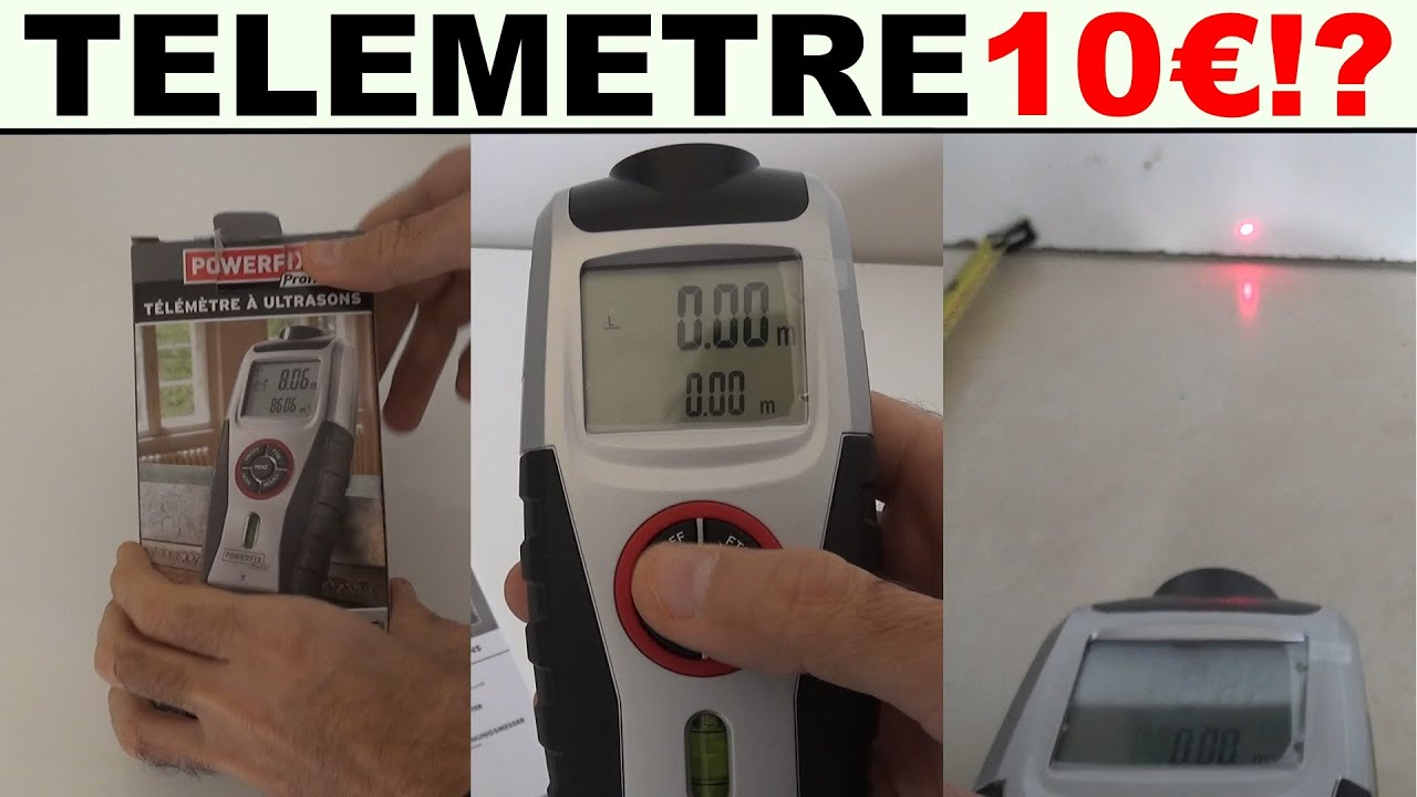 Lidl powerfix télémètre à ultrasons ian 102668 modèle z31697a youtube