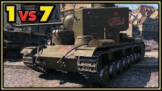 KV-5 - 12 Kills - 1 vs 7 - World of Tanks Gameplay