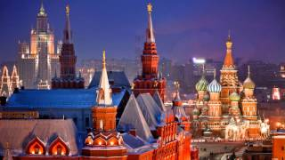 Сумасшедшие огни Москвы - шикарная зона «Зарядье»! Лучшие виды ночной Москвы. Russia Moscow!