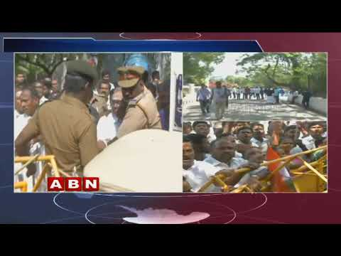 Puducherry CM Continues Dharna Outside Lieutenant Governor Kiran Bedi's House | ABN Telugu Mp3
