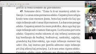 26 | La Sotesana Instruo de Ŭonbulismo | 에스페란토 원불교 대종경 공부 (zoom)