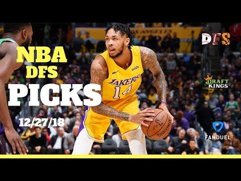 12/27/18 NBA DFS Picks Fanduel + Draftkings