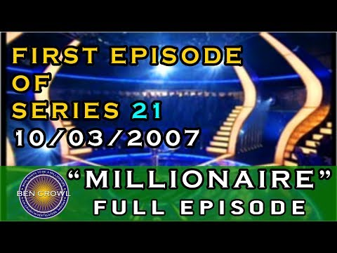 Who Wants to be a Millionaire Classic Reruns 10th March 2007 Series 21